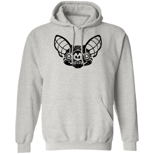 Black Distressed Emblem Hoodies for Adults (Bat/Radar)