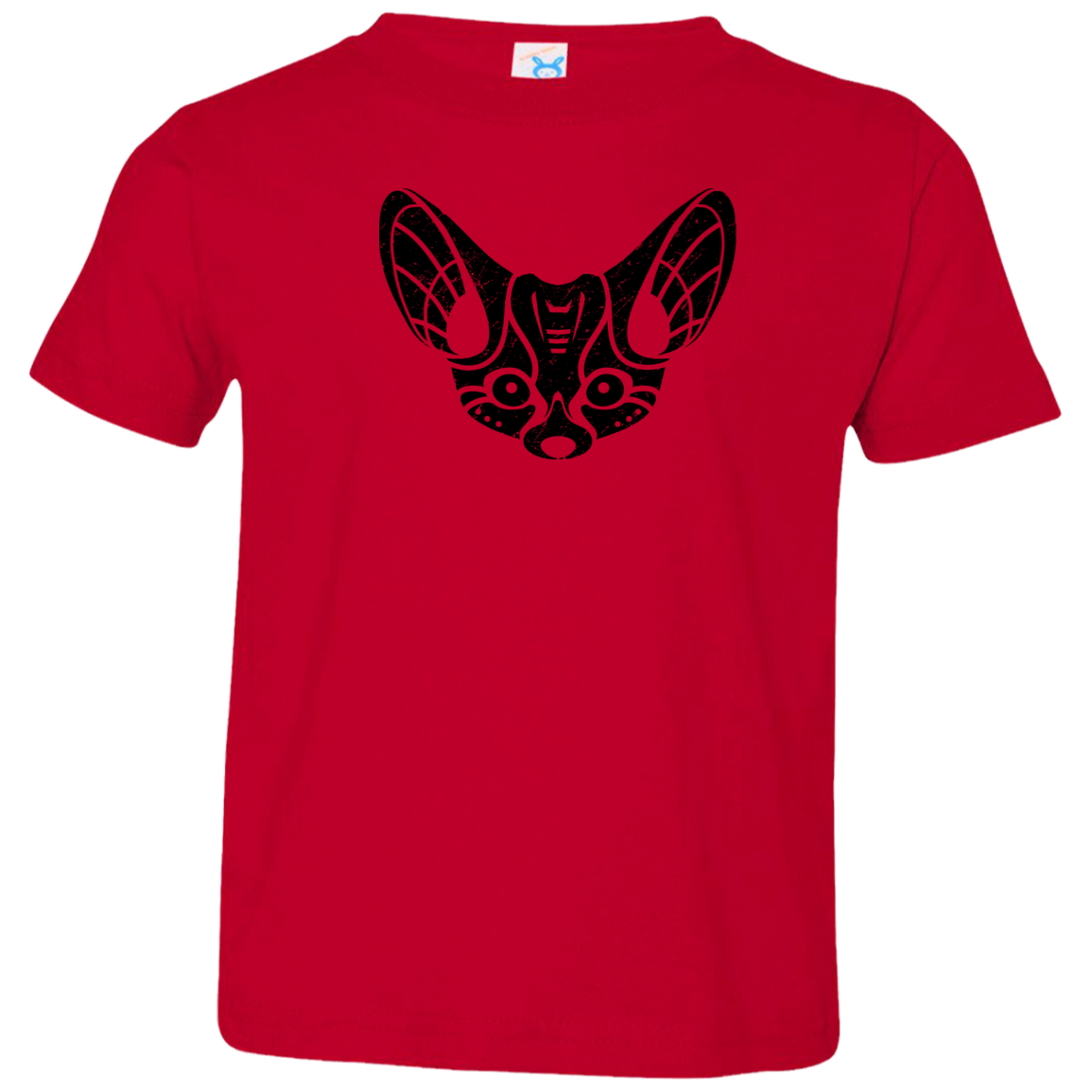 Black Distressed Emblem T-Shirt for Toddlers (Fennec Fox/Fen) - Dark Corps