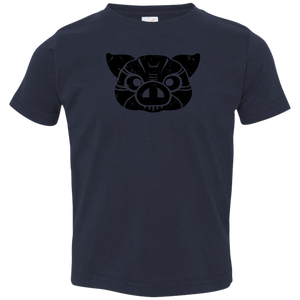 Black Distressed Emblem T-Shirt for Toddlers (Pig/Hoss) - Dark Corps