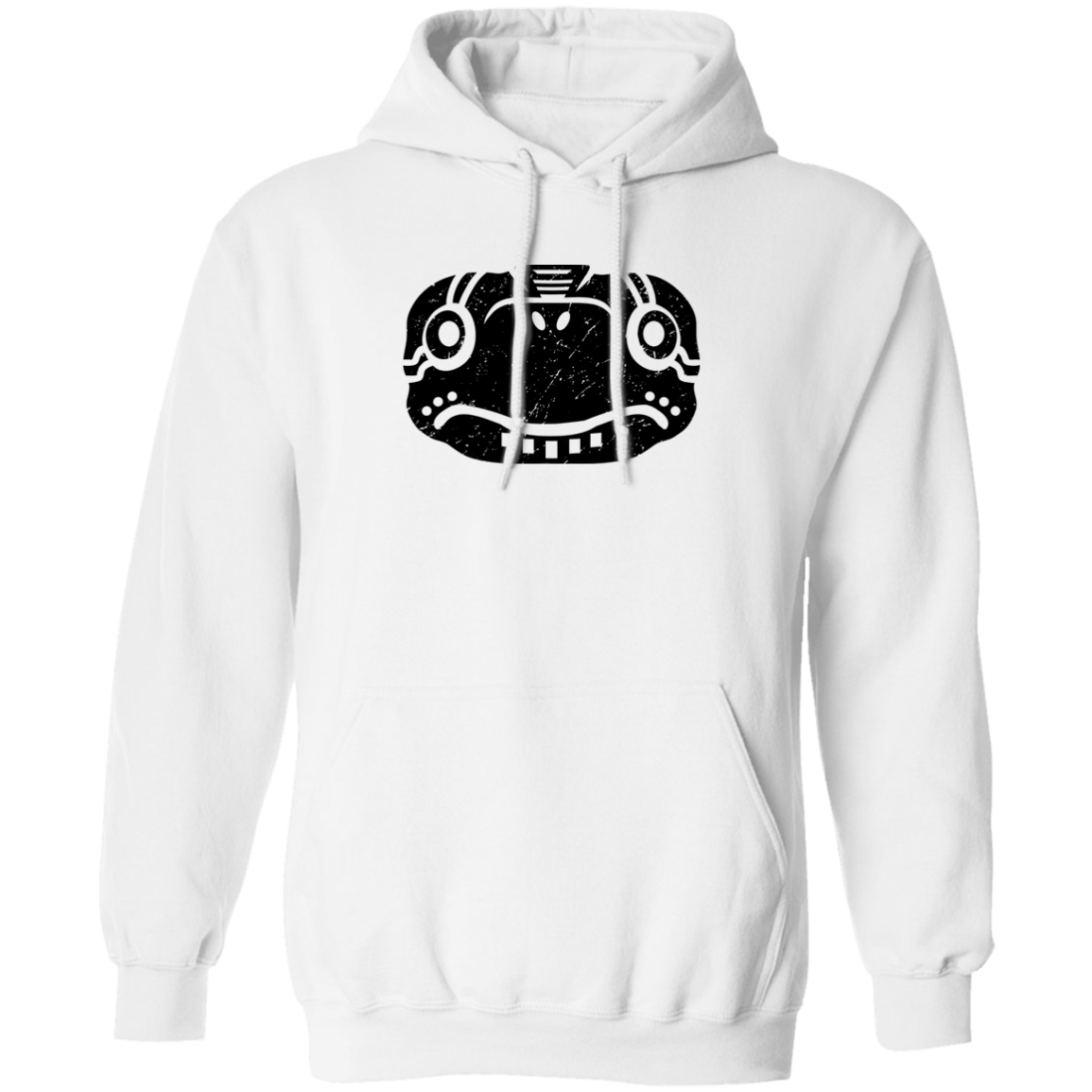 Black Distressed Emblem Hoodies for Adults (Turtle/Pearl)