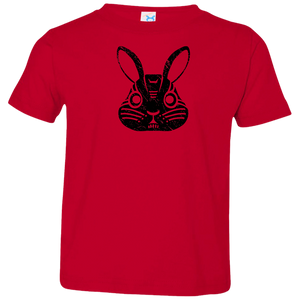 Black Distressed Emblem T-Shirts for Toddlers (Rabbit/Lucky) - Dark Corps