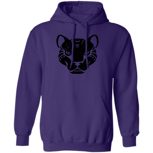 Black Distressed Emblem Hoodies for Adults Panther/Slash)