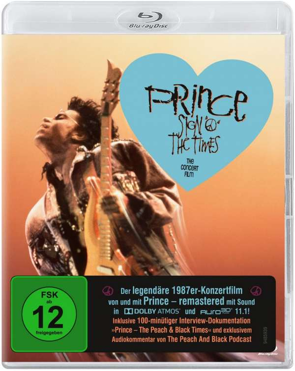 "Prince Sign ""O"" The Times Blu Ray 2020 Release Remaster 100 Min Doc WILL PLAY ON ALL MACHINES"
