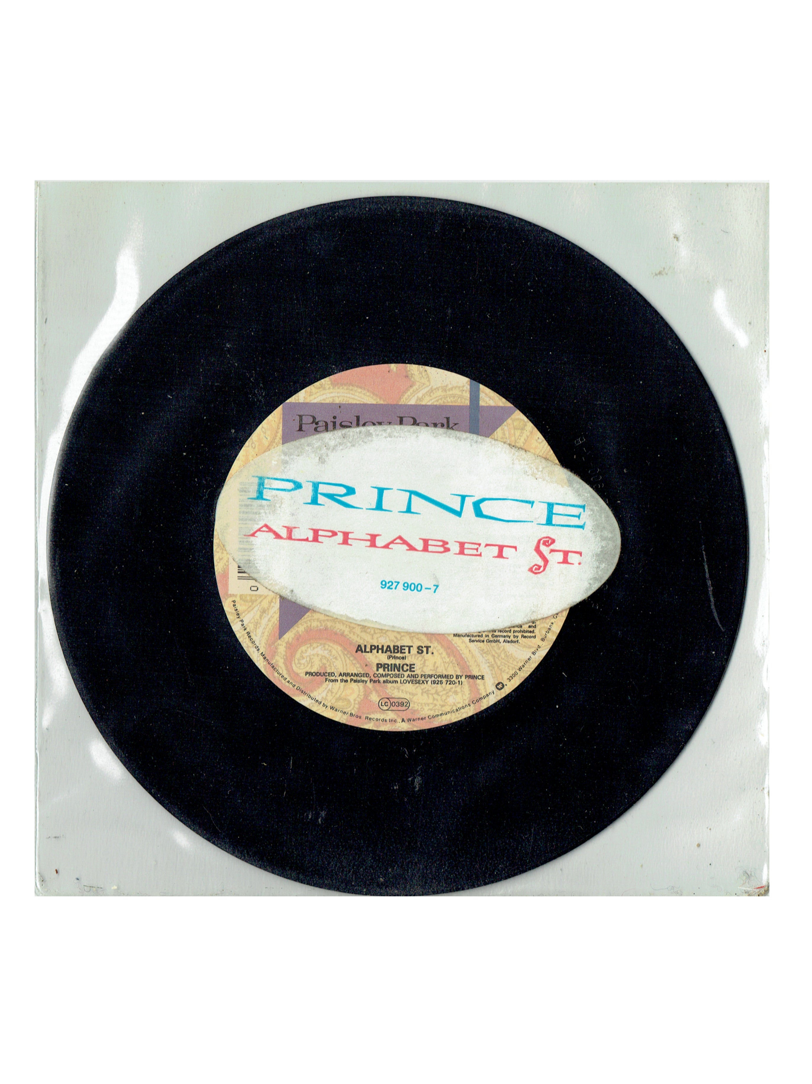 Prince Alphabet St. 7 Inch Single PS Release 1988 UK WE 171 IB