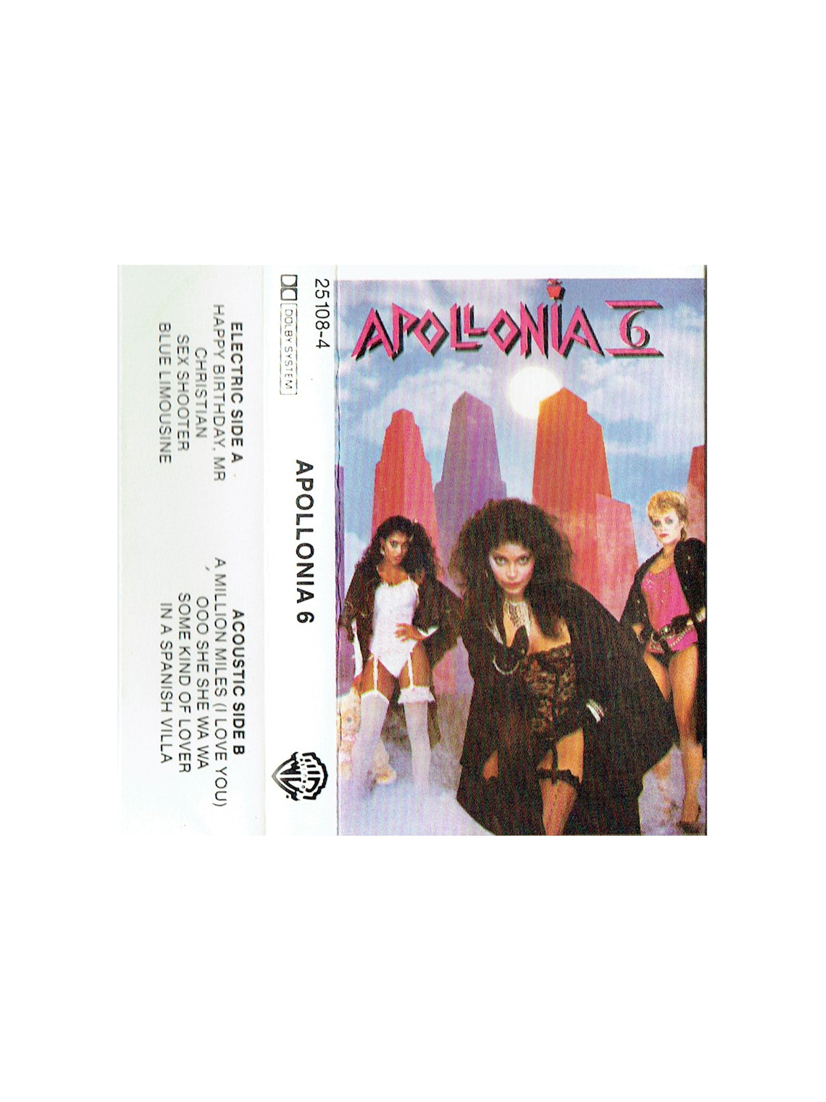 Apollonia 6 Self Titled Tape Cassette WEA Records New Zealand Release Prince