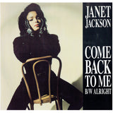Janet Jackson Come Back To Me 12 Inch Vinyl Single USAT 681 Prince