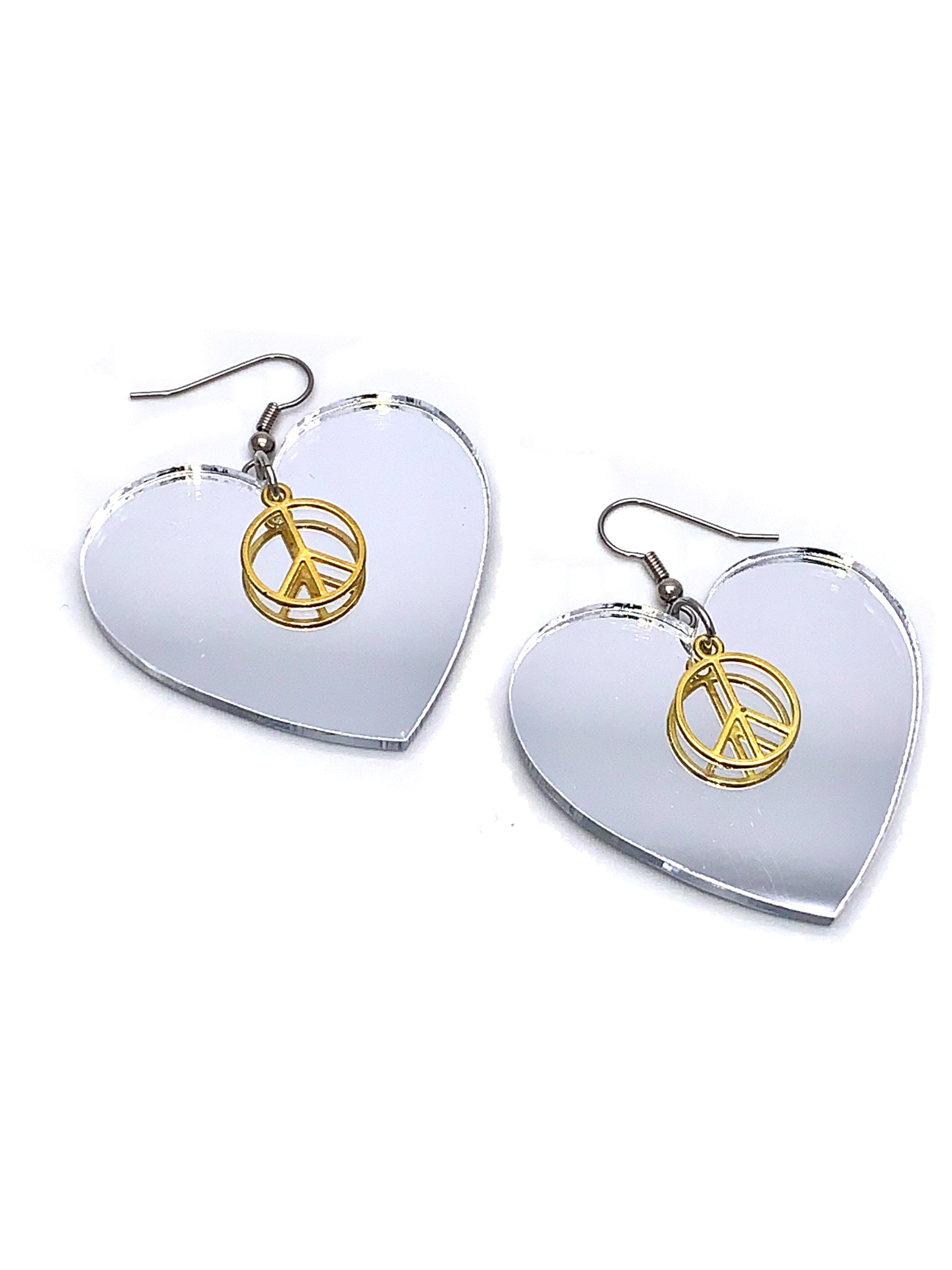 Mirror Heart Earrings Replica Brand New Prince Lovesexy