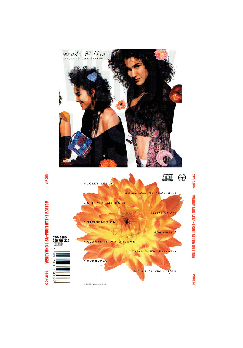 Prince Wendy & Lisa Fruit At The Bottom CD Album 1989 10 Track (Used)