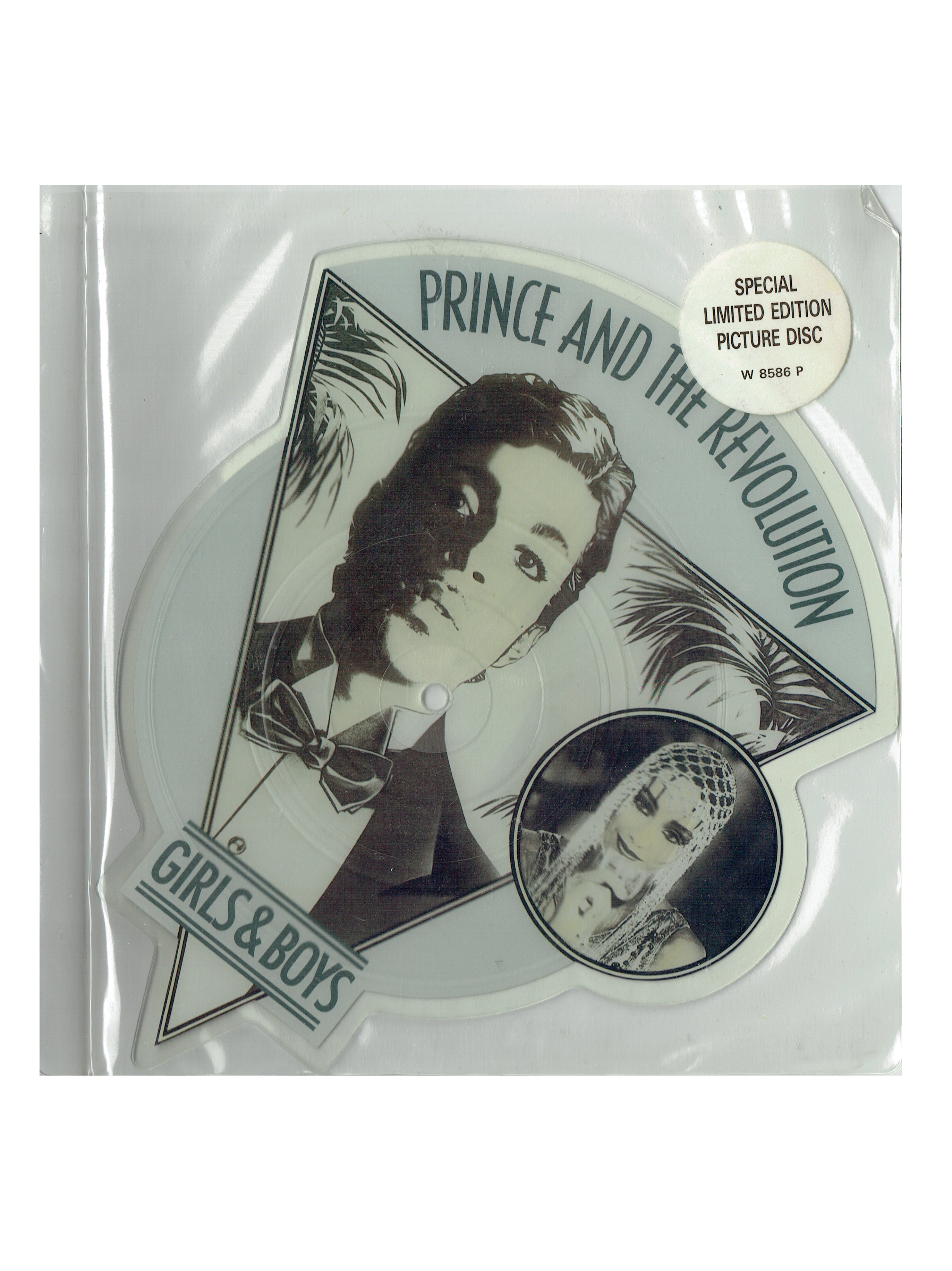 Prince Girls & Boys/Under The Cherry Moon 7 Inch UK Picture Disc With Hype TR