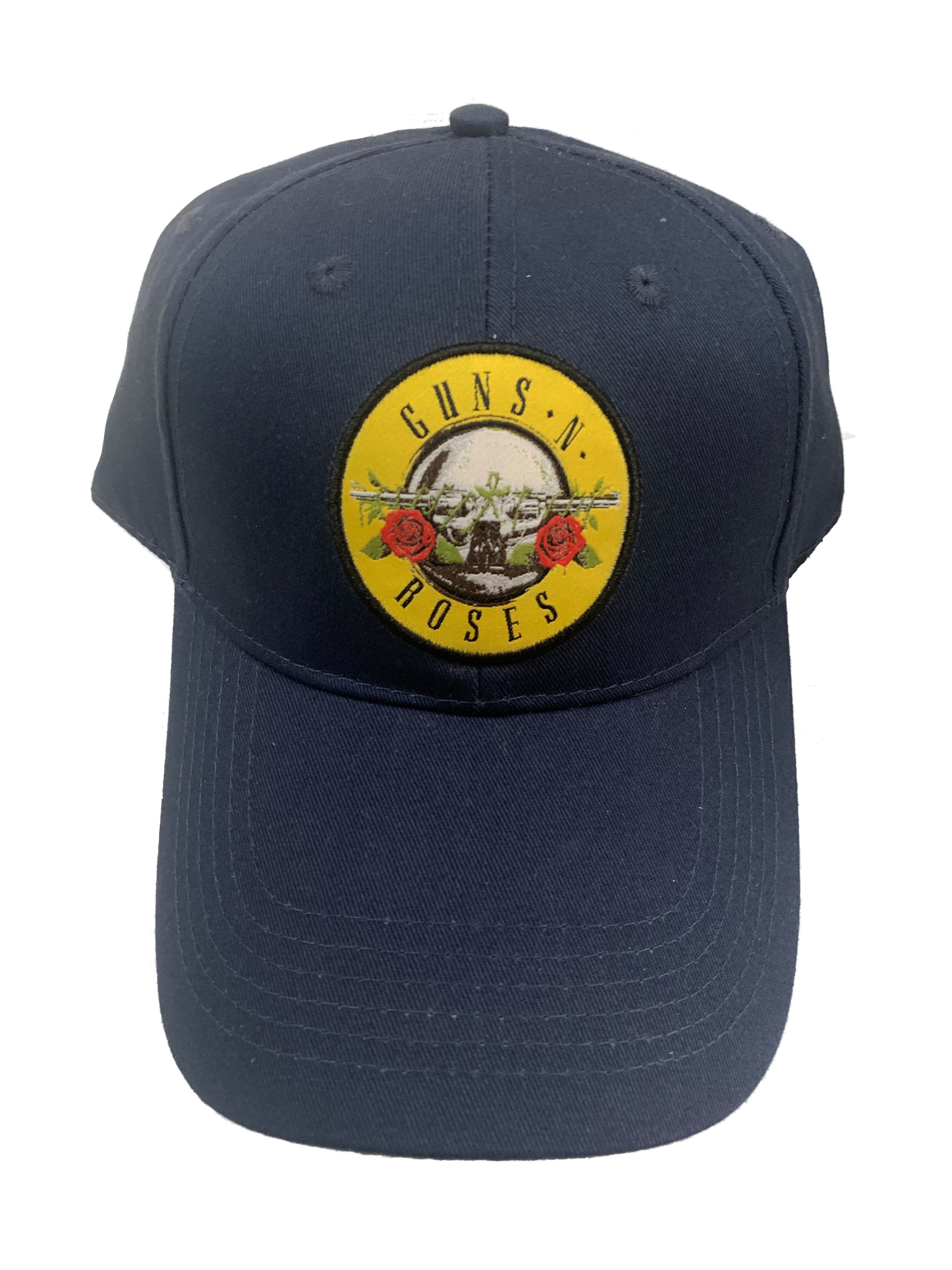 Guns N Roses Drum Logo Navy Official Embroidered Peak Cap Adjustable Brand New
