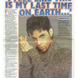 Prince NME Newspaper Magazine December 14 1996 Cover & 3 Page Article