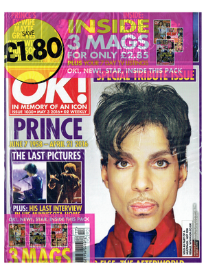 Prince OK! Magazine Cover Special Tribute Issue May 3rd 2016 SEALED