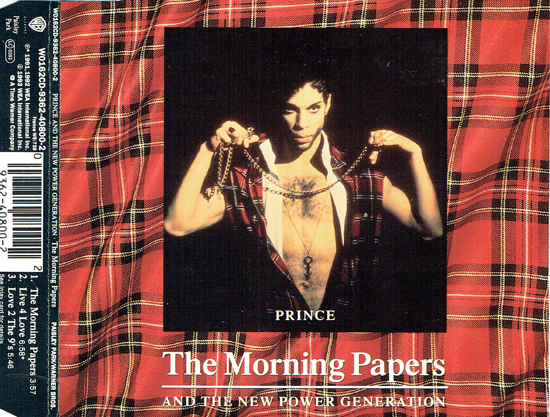Prince NPG Morning Papers UK CD Single 1993 Original 3 Tracks Pre Owned