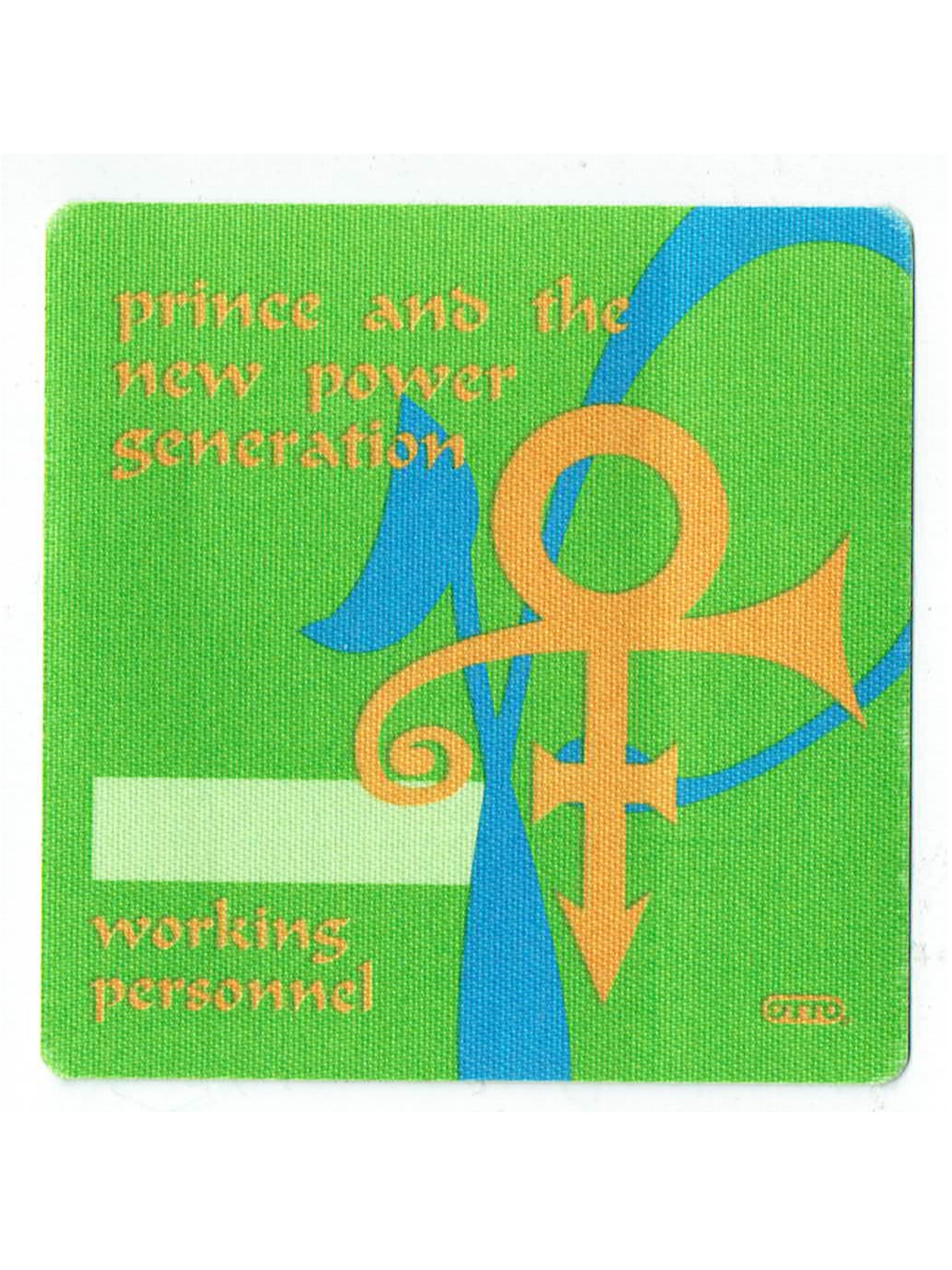 Prince & The NPG Official Otto Patch Unused As New Personal Green
