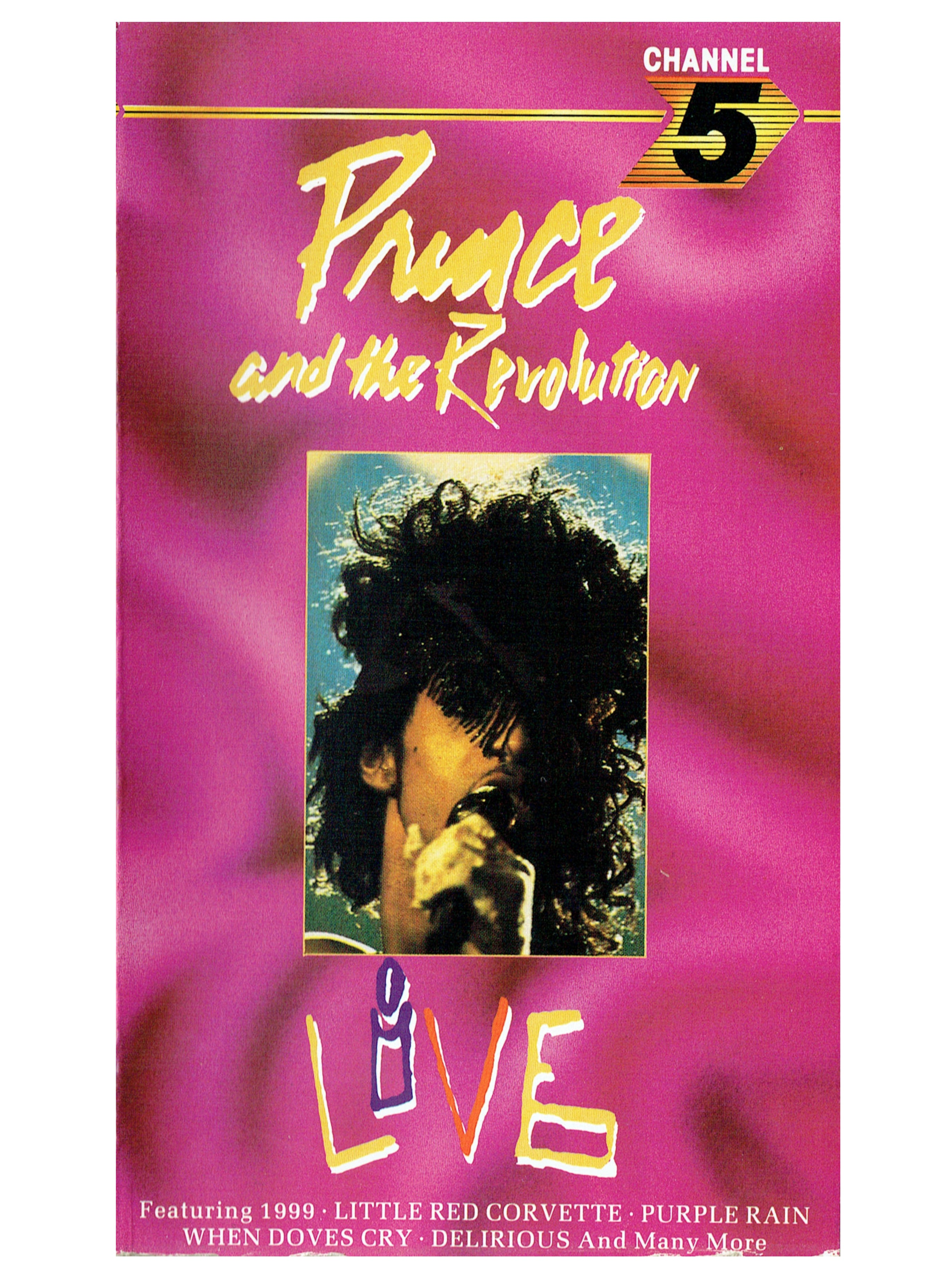Prince & The Revolution LIVE VHS Video Cassette