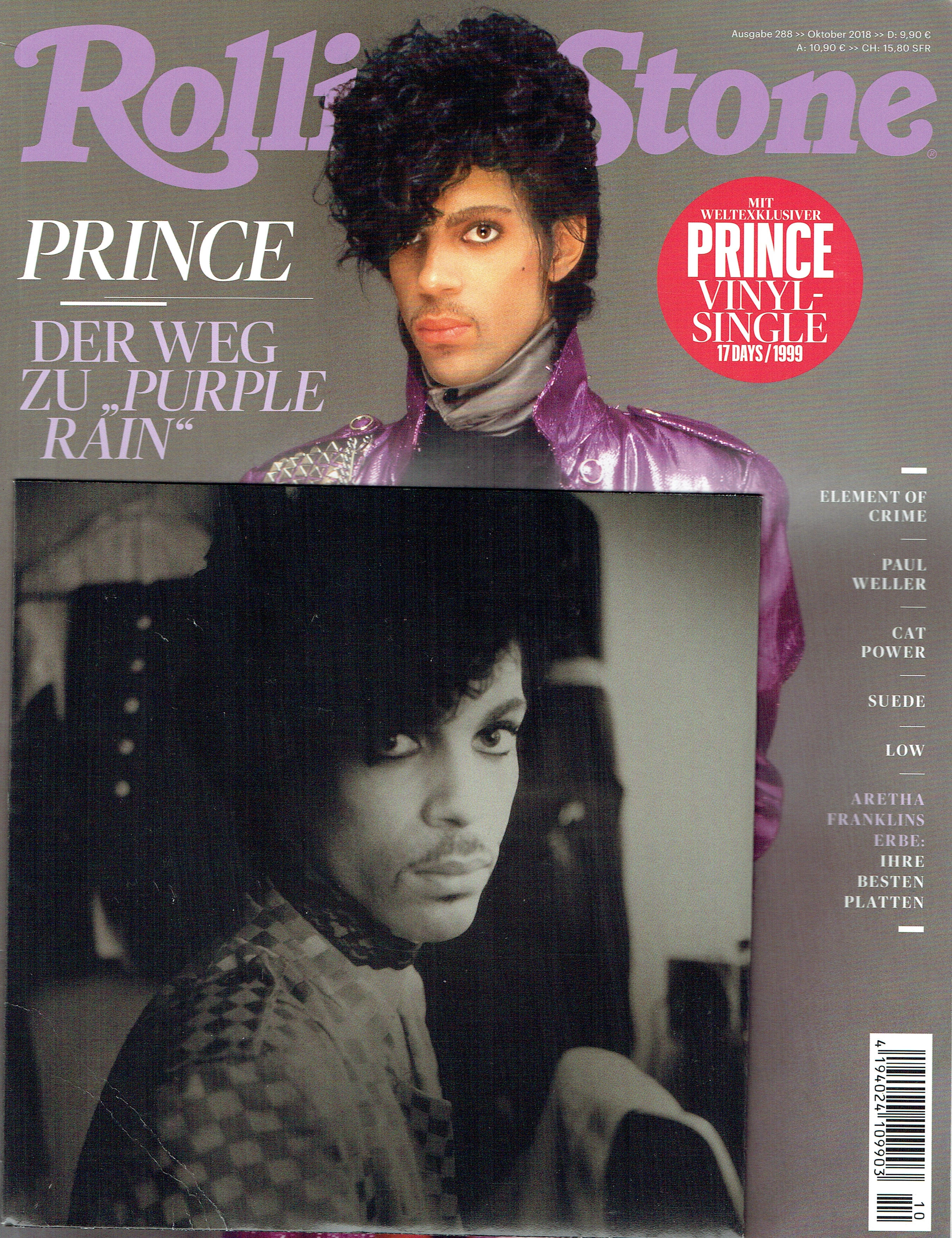 Prince Rolling Stone Magazine Issue October 2018 7 inch Vinyl Single 17 Days
