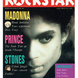 Prince ROCKSTAR July 1990 Italian Magazine Cover And 4 Page Article EX