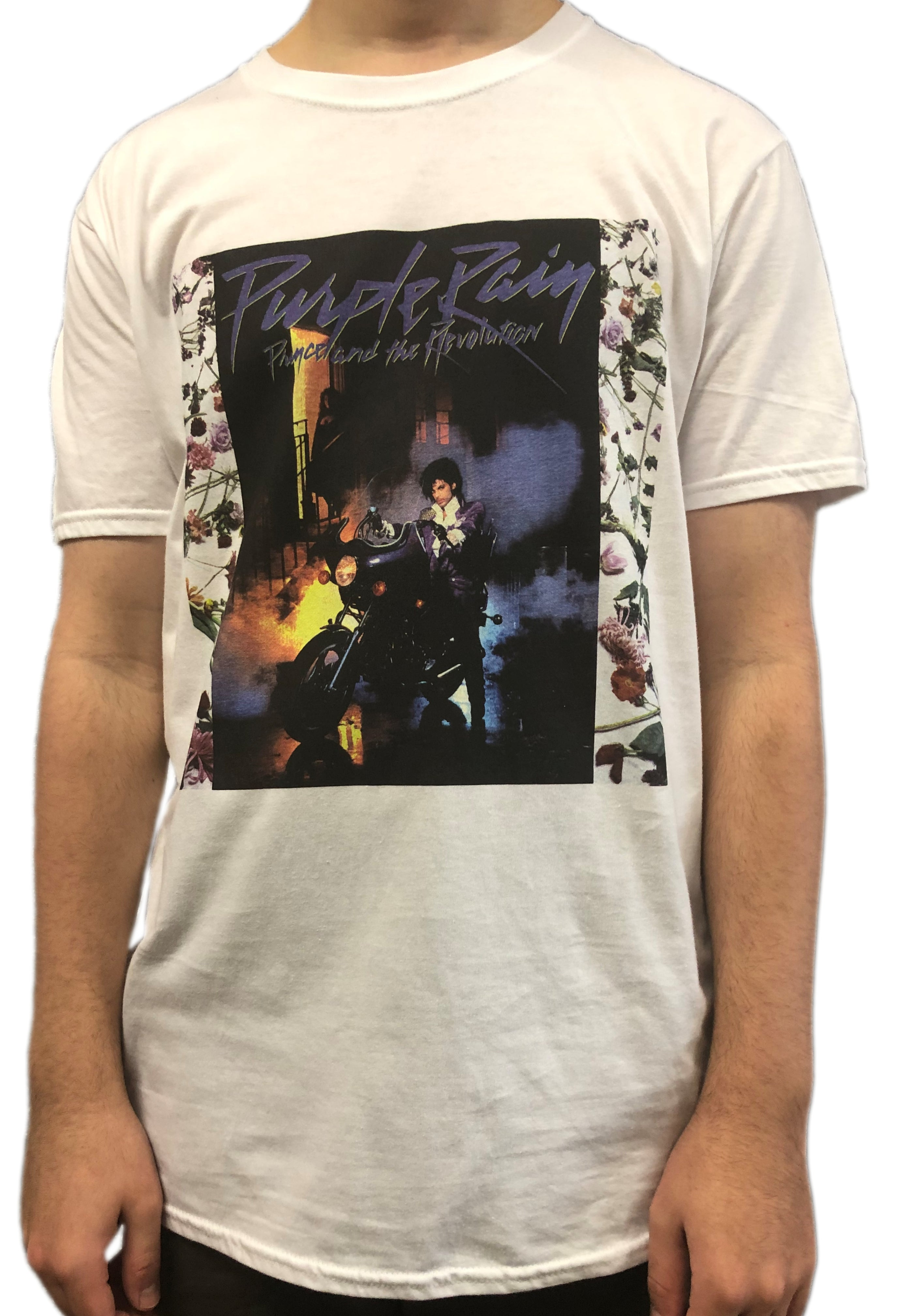 Prince Purple Rain Album Front Cover Unisex Official T-Shirt Brand New