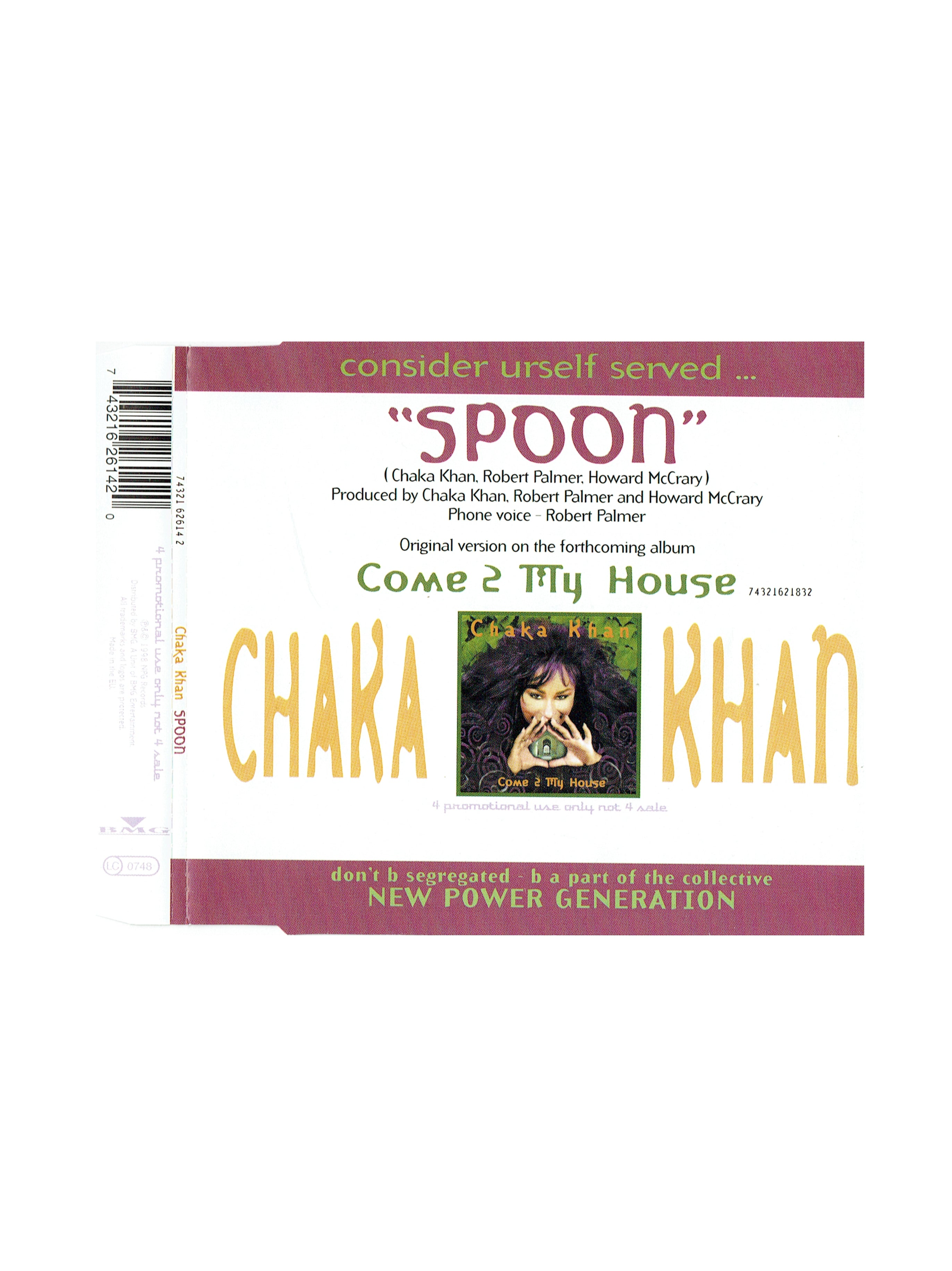 Chaka Khan SPOON From Come 2 My House Promotional CD Single Prince