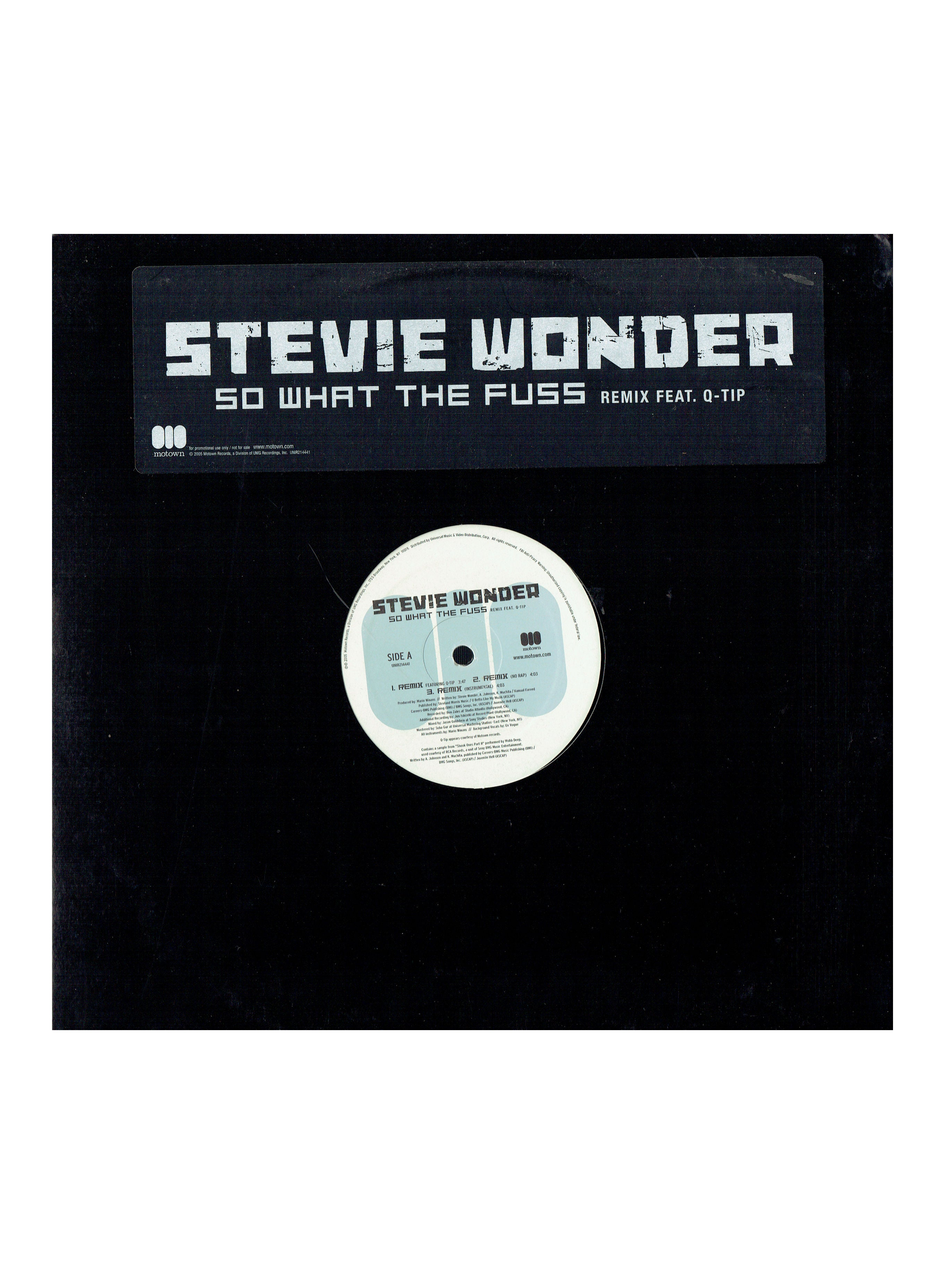 Stevie Wonder So What The Fuss 12 Inch Vinyl Single Remixes Prince 2005 Q-Tip