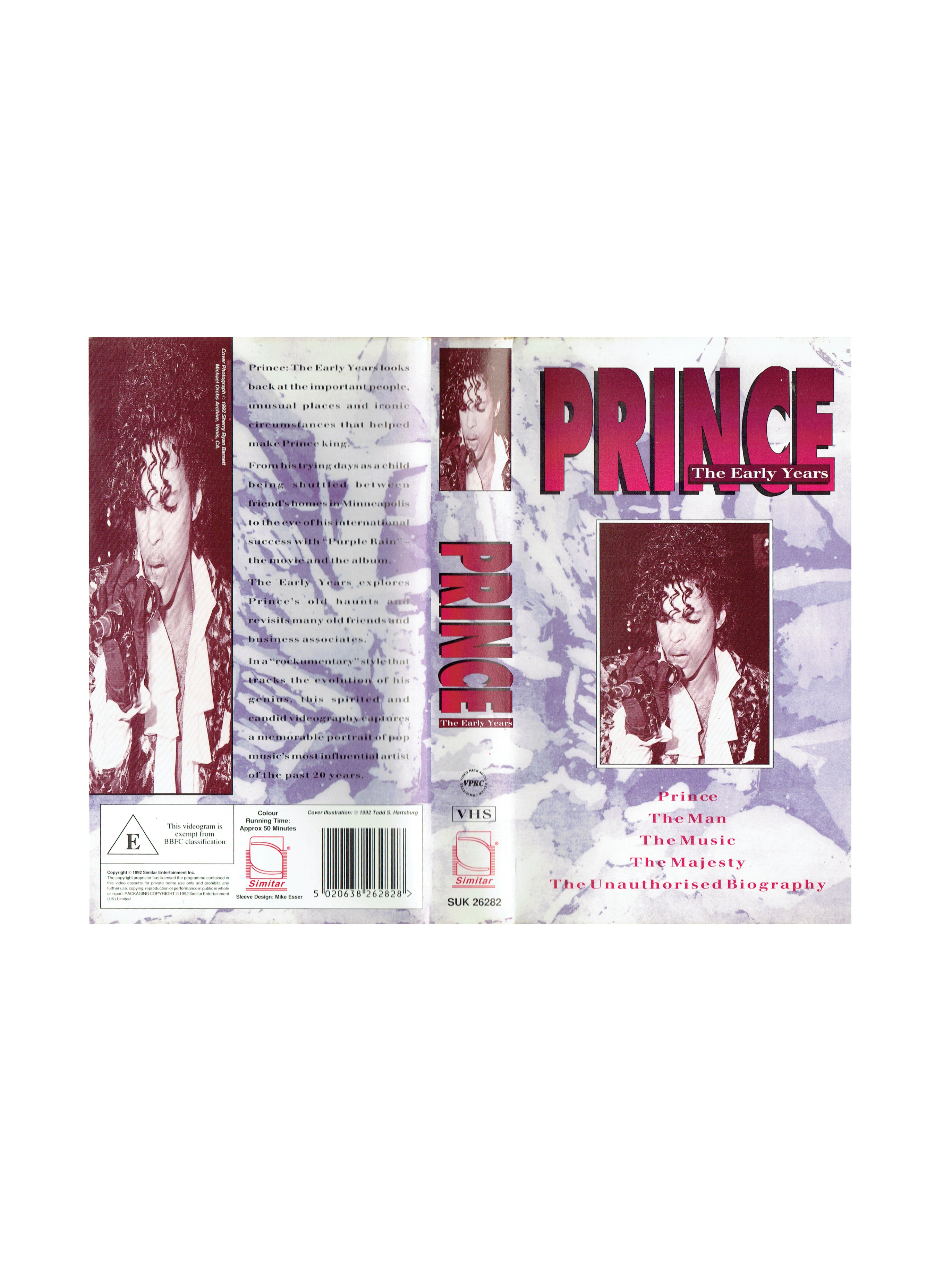 Prince The Early Years VHS Video Cassette IB