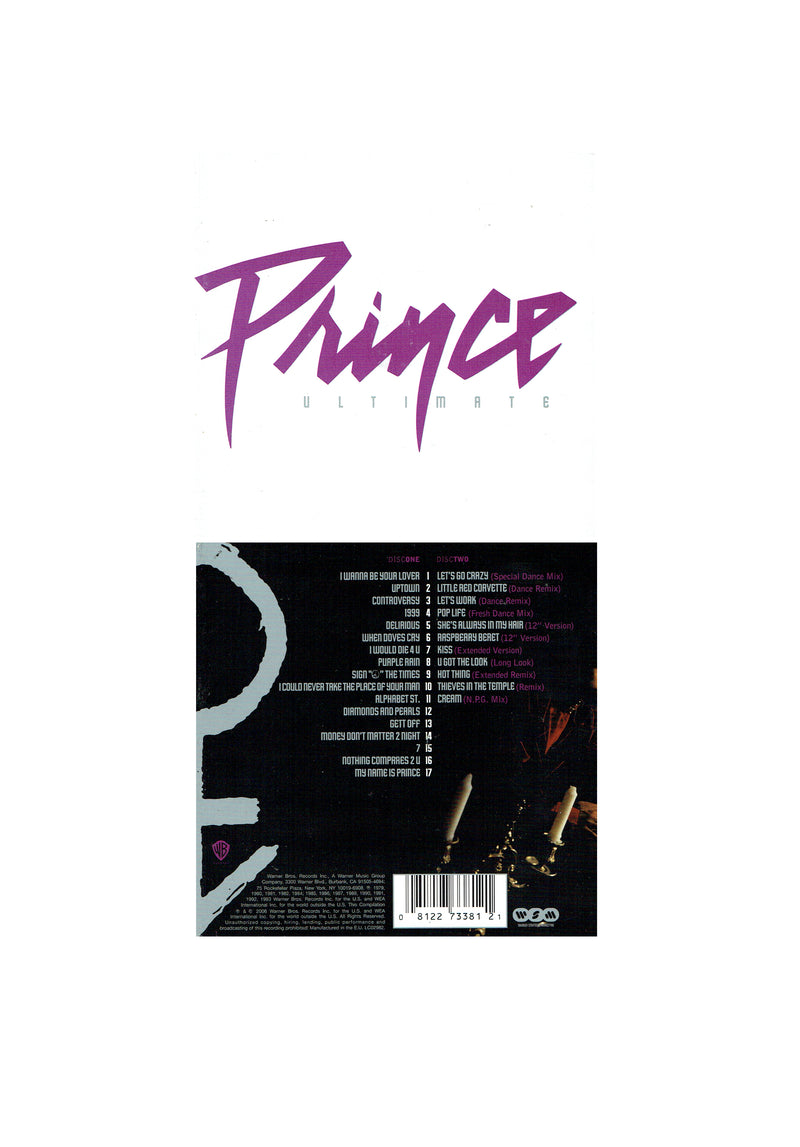 Prince Ultimate 2 CD Set Original 28 Tracks Remixes Extended (Used)