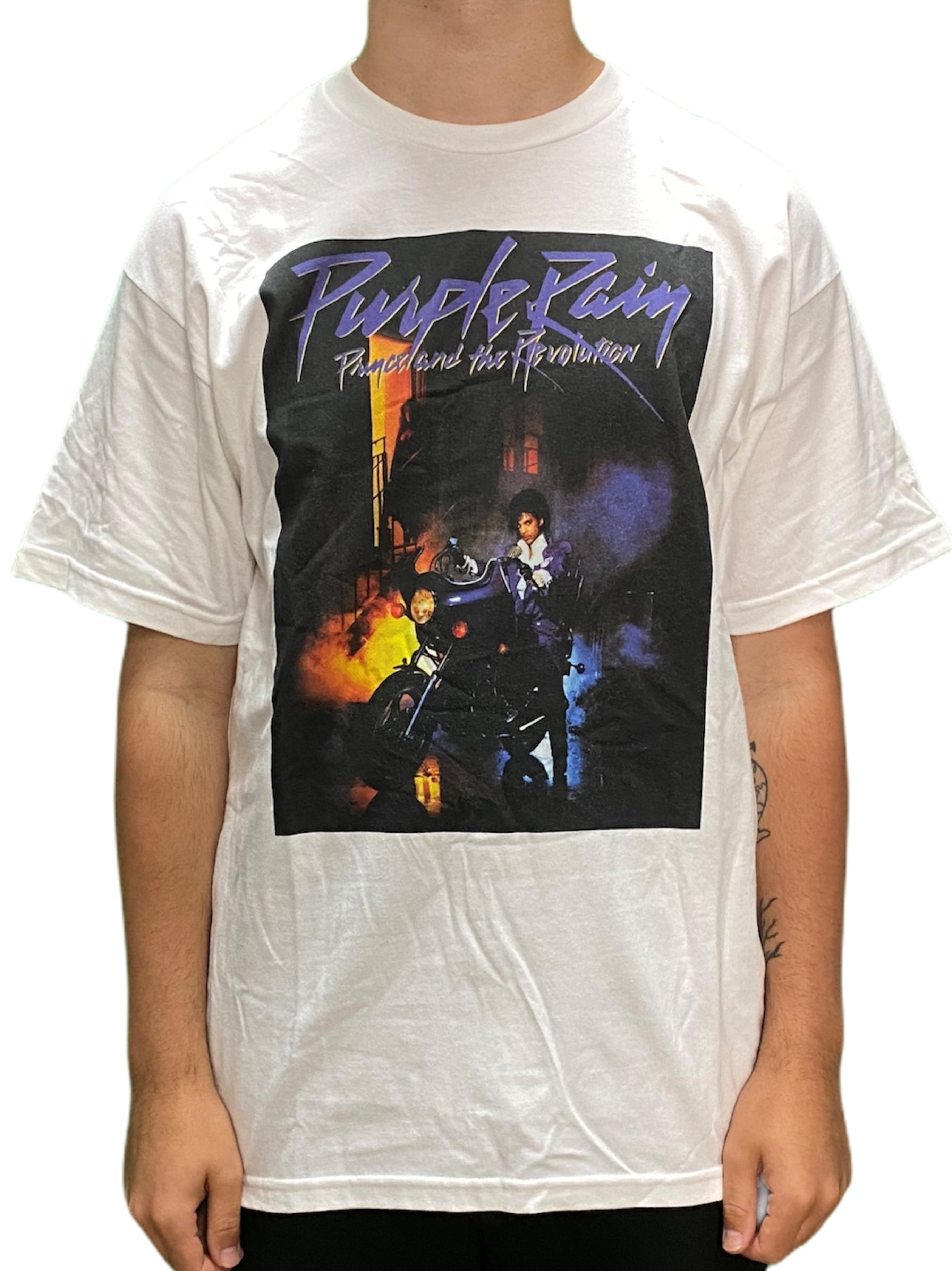 Prince Purple Rain Album Front Cover  SQ Unisex Official T-Shirt Brand New