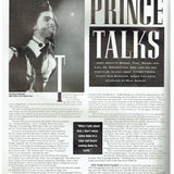 Prince Vox Magazine December 1990 Cover Insert & 6 Page Article/ Innerview