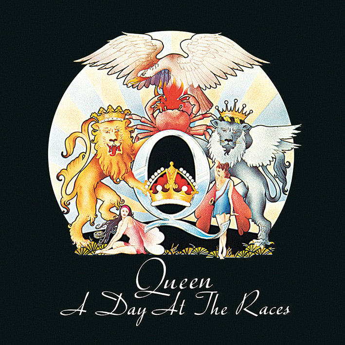 Queen A Day At The Races Official Canvas Print Brand New 40 x 40 x 3.8 cm