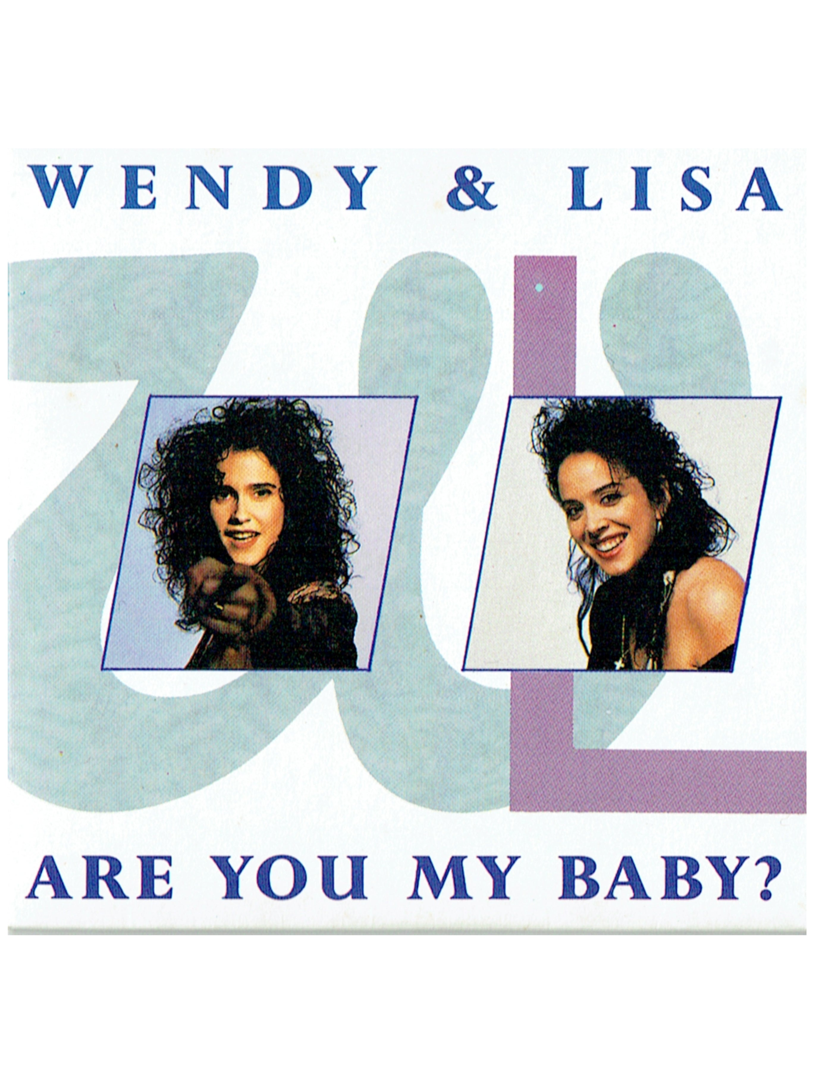 Wendy & Lisa Are You My Baby ? 4 Track CD Single 1987 Original Prince