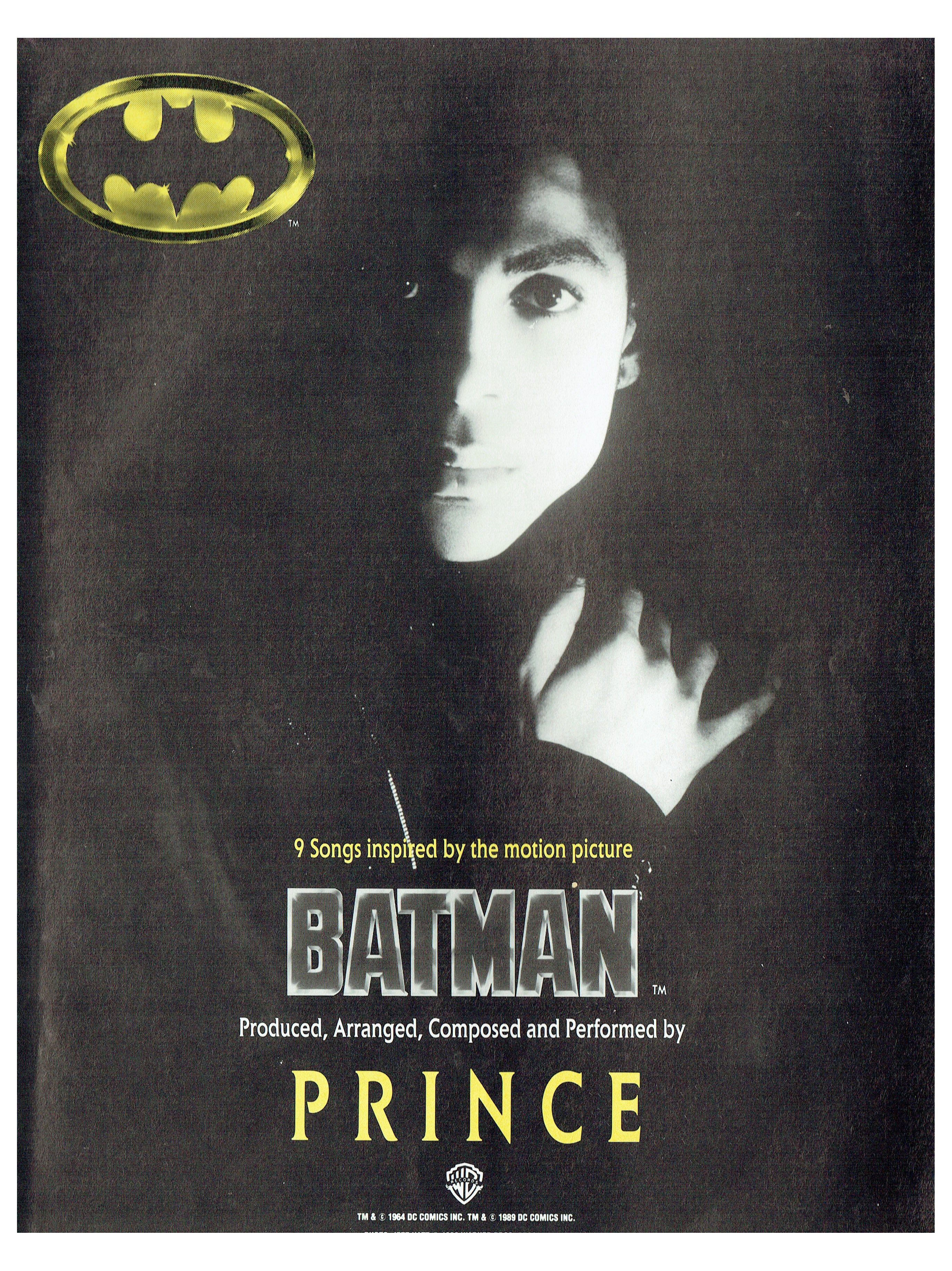 Prince BATMAN Official Trade Advert Ideal For Framing