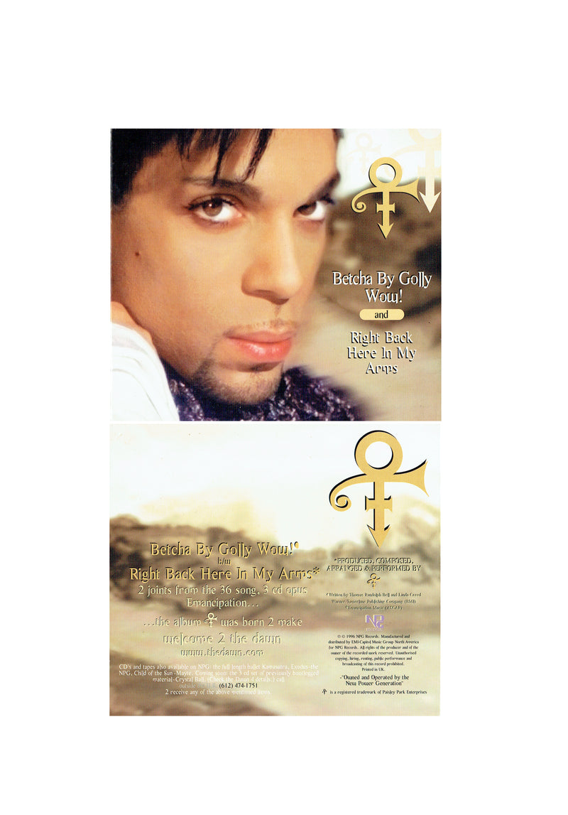Prince Betha By Golly Wow Original CD Single 1996 (Used) 2 Tracks