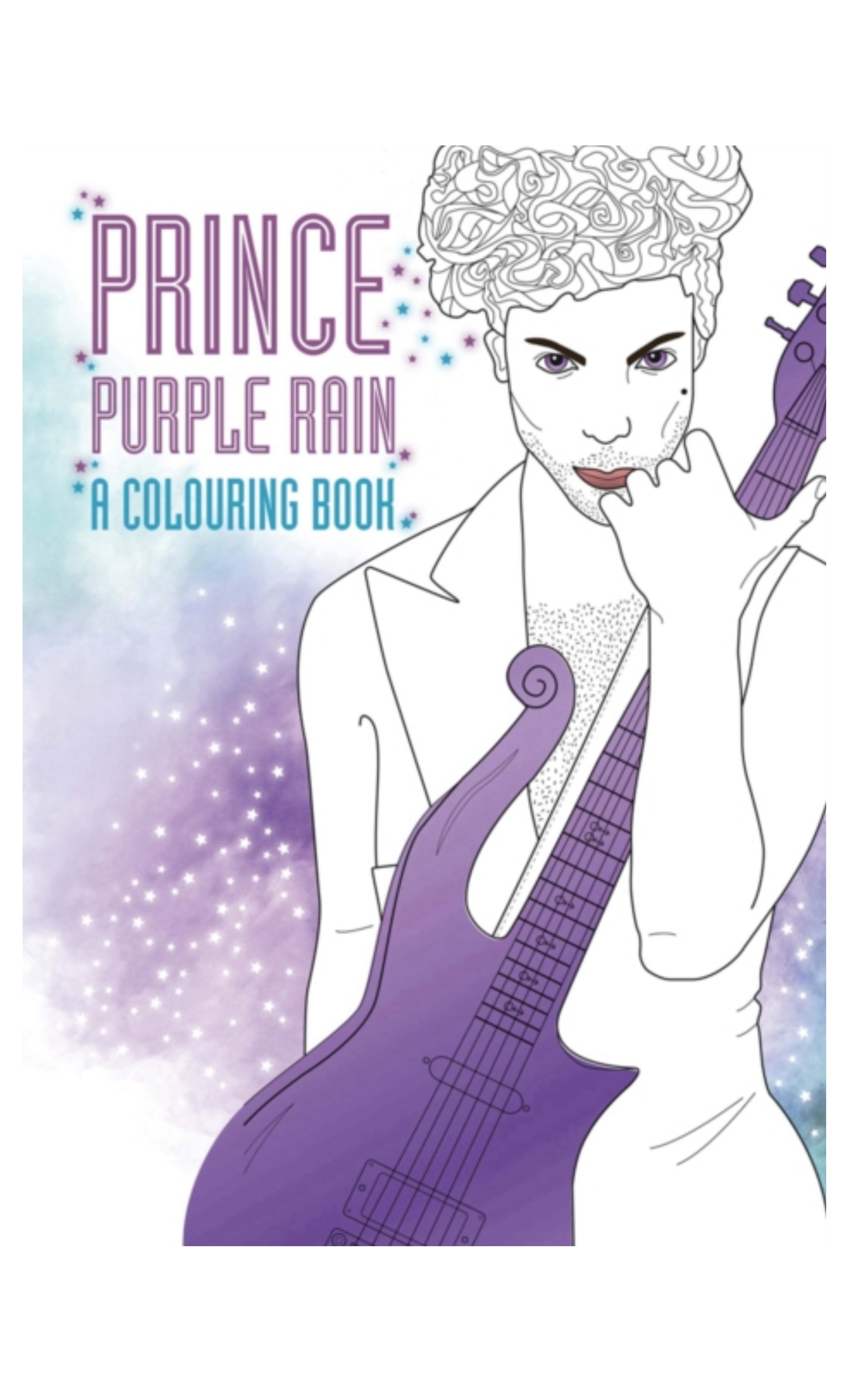 Prince: Purple Rain : A Colouring Book by Coco Balderrama Softback Brand New