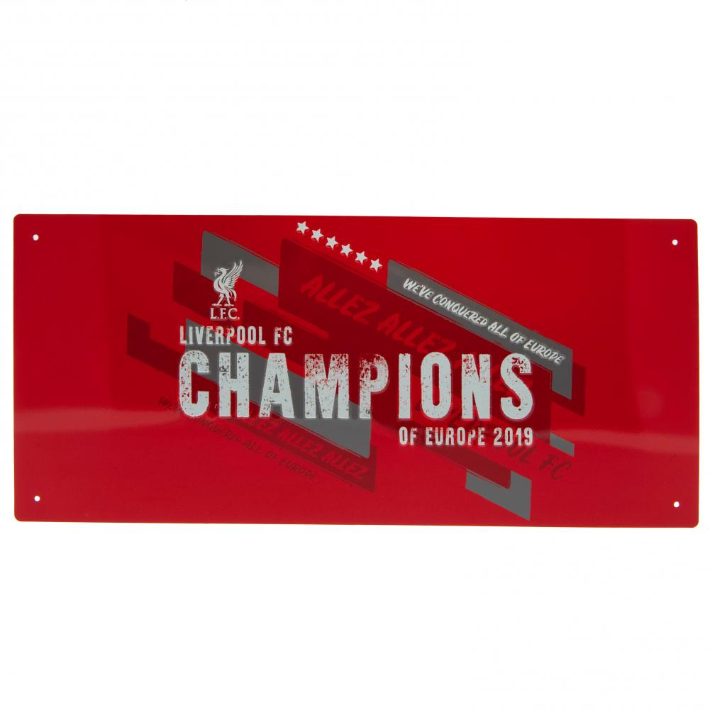 Liverpool F.C. Official Club Product Metal Sign Brand New Champions Of Europe Sign