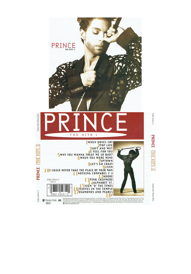 Prince The Hits 1 1993 Original CD 18 Tracks (Used) Mint Condition