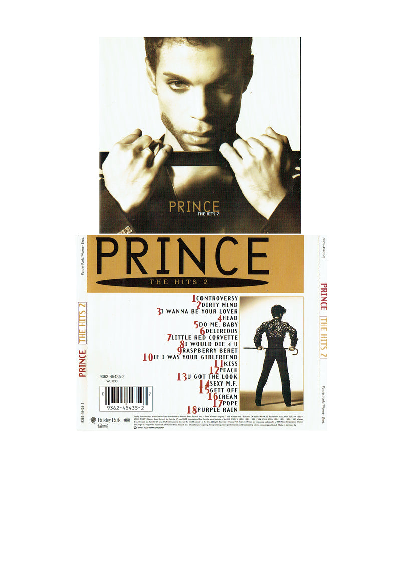 Prince The Hits 2 1993 Original CD With Parent Advisory Sticker