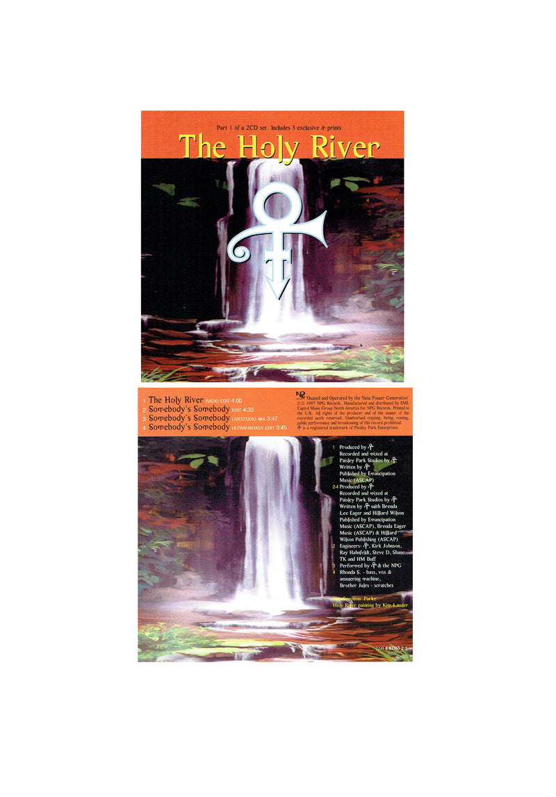 Prince The Holy River Part 1 With 3 Cards 4 Track CD Single 1997 Original (Used)