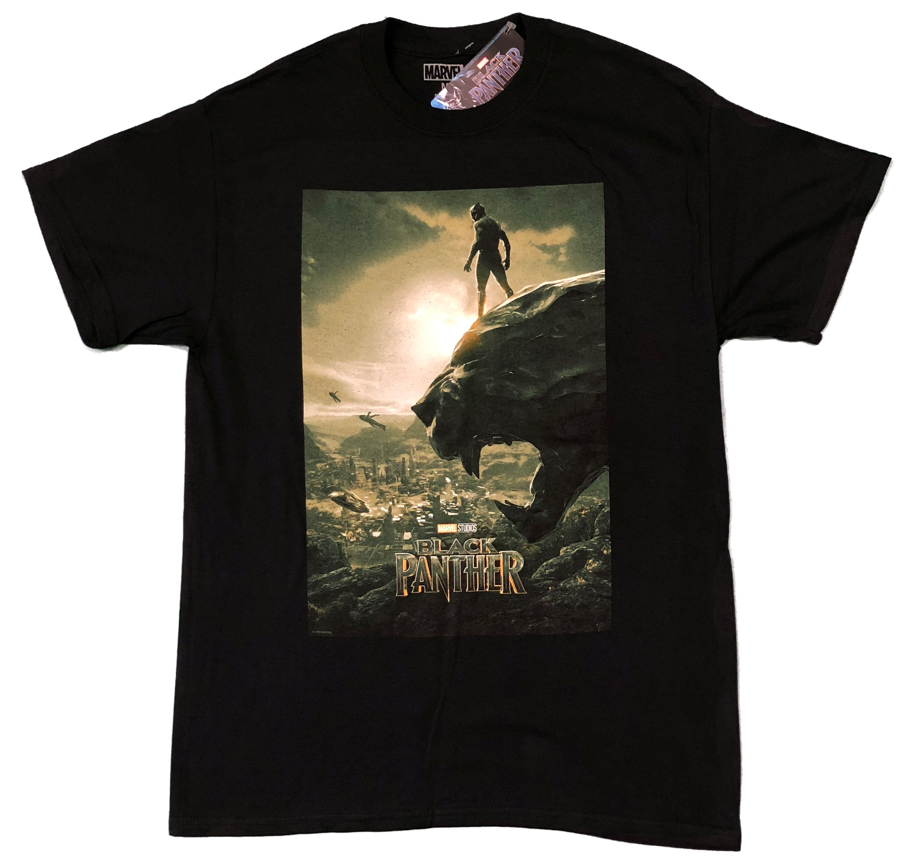 Black Panther Poster Marvel Unisex Official T Shirt Brand New Various Sizes TV Film Movie