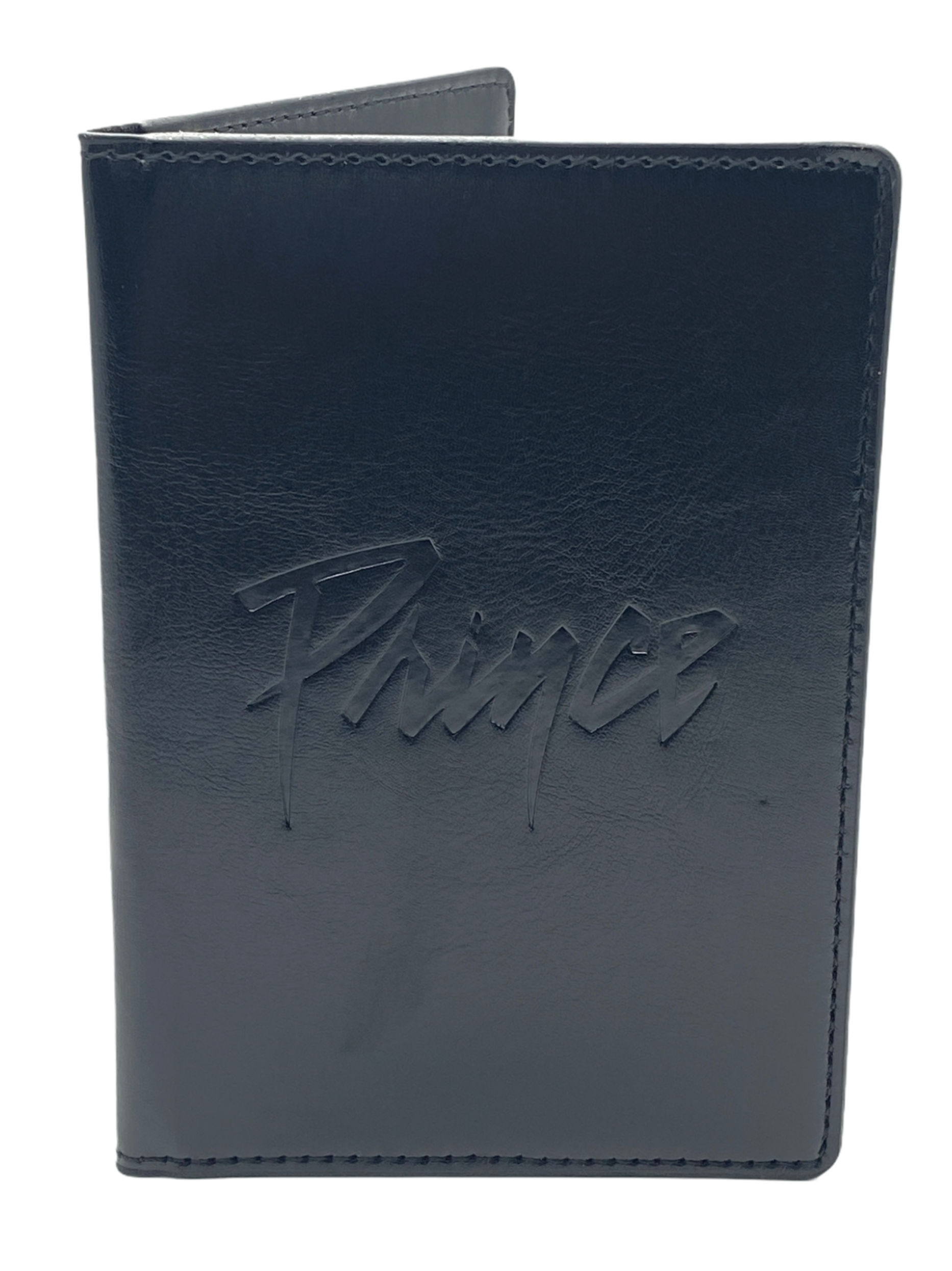 Prince Official Merchandise Passport Holder Black Embossed Brand New