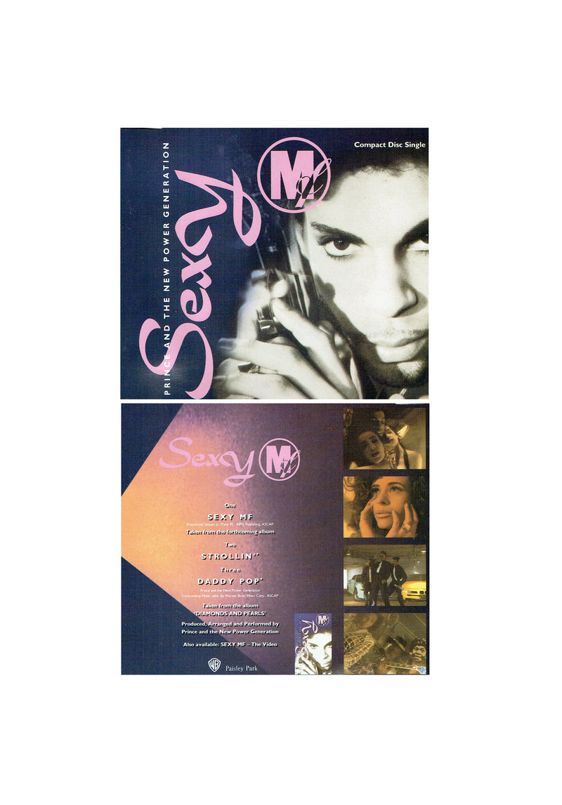 Prince & The NPG Sexy MF Original CD Single 1992 (Used) 3 Tracks
