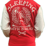 Sleeping With Sirens Skeleton Varsity Jacket Unisex Official Brand New Various Sizes