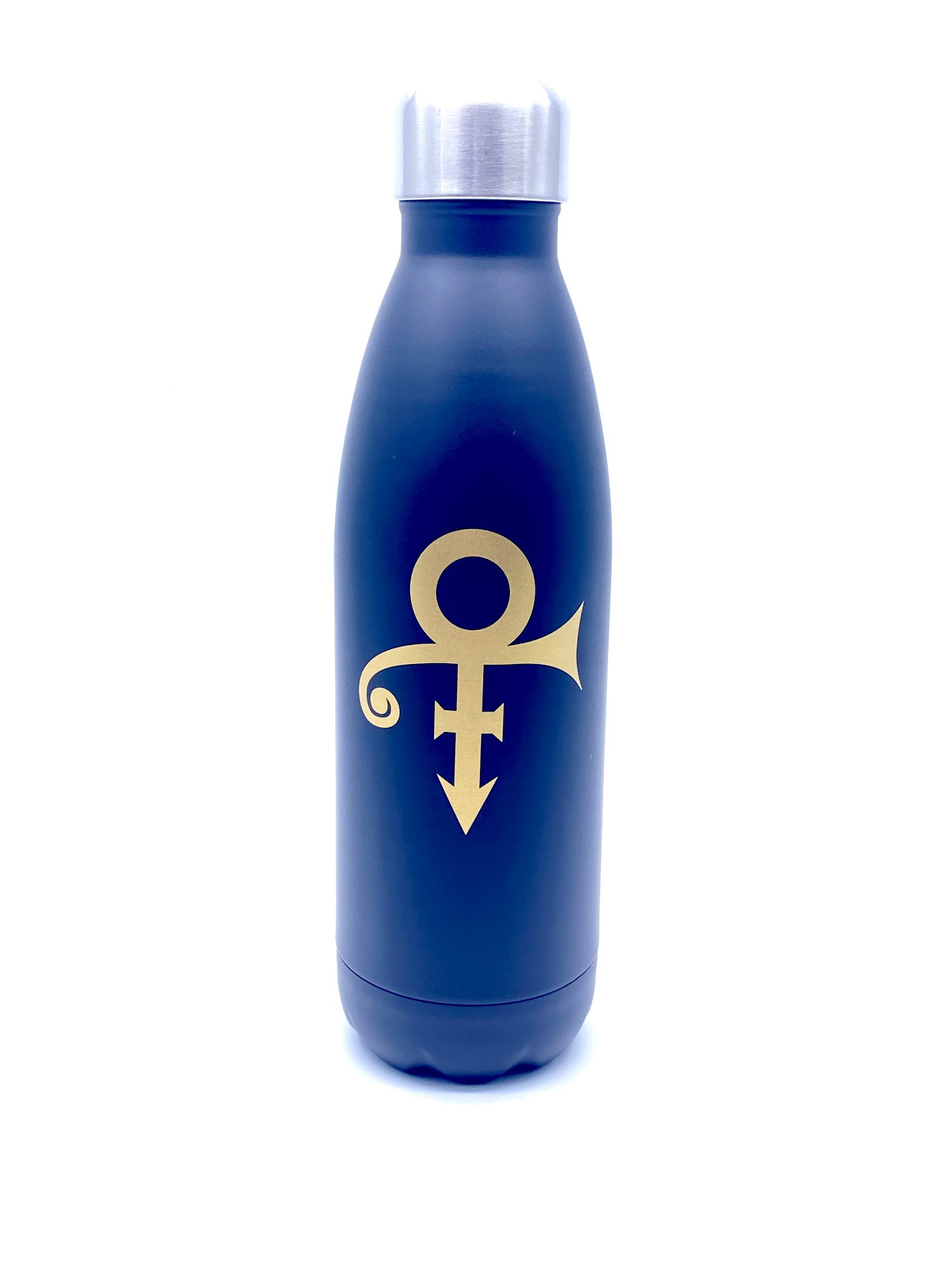 Prince Official Aluminium Drinks Flask Black With Gold Love Symbol  Brand New