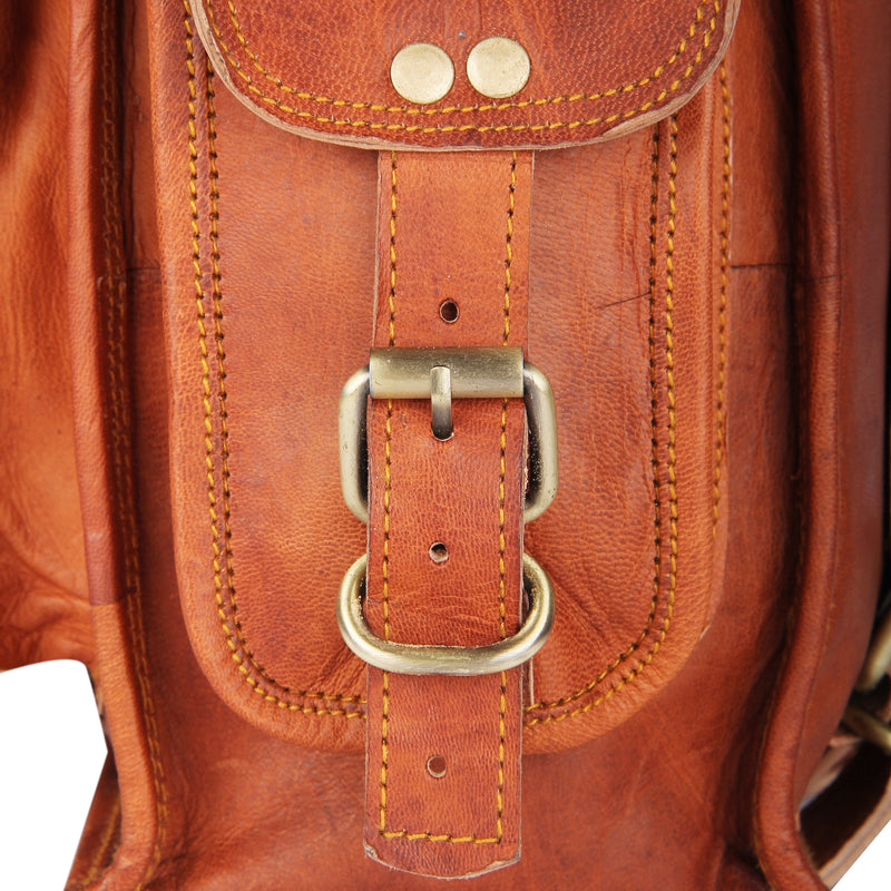Leather 2-in-1 Rucksack and Courier Bag