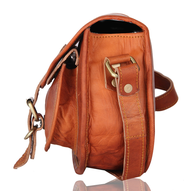 Women's Handmade Leather Saddlebag Purse