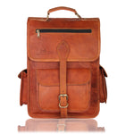 Brown Leather Vintage Rucksack