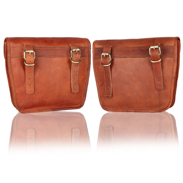 Stunning Vintage or Modern Look Leather Motorcycle Bags