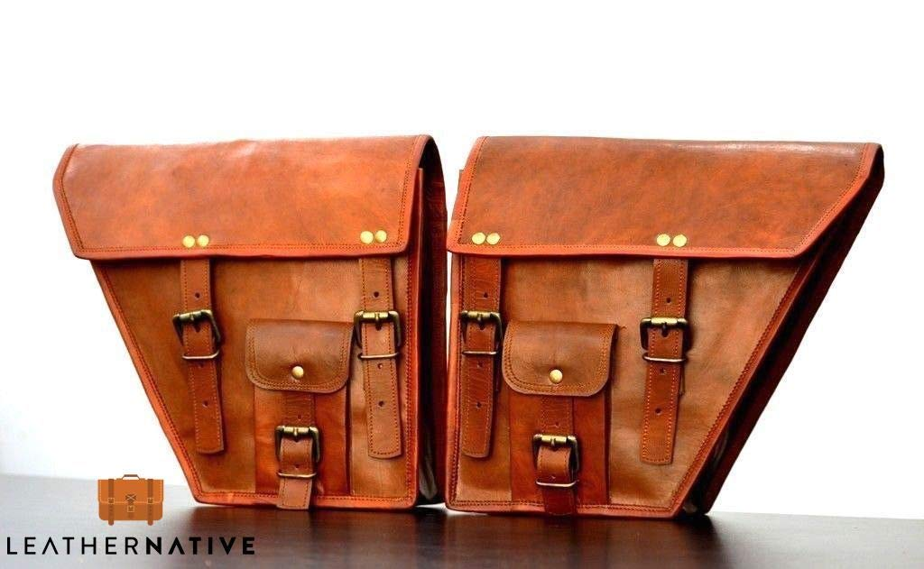 2X Classic Motorcycle Saddlebags