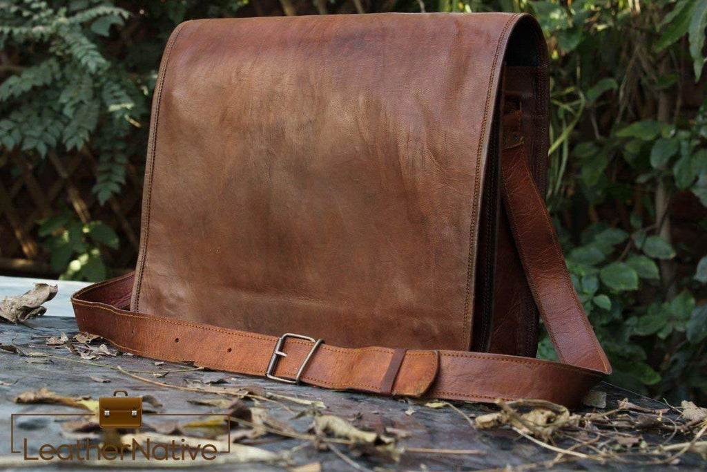 "11"" Brown Messenger Bag"