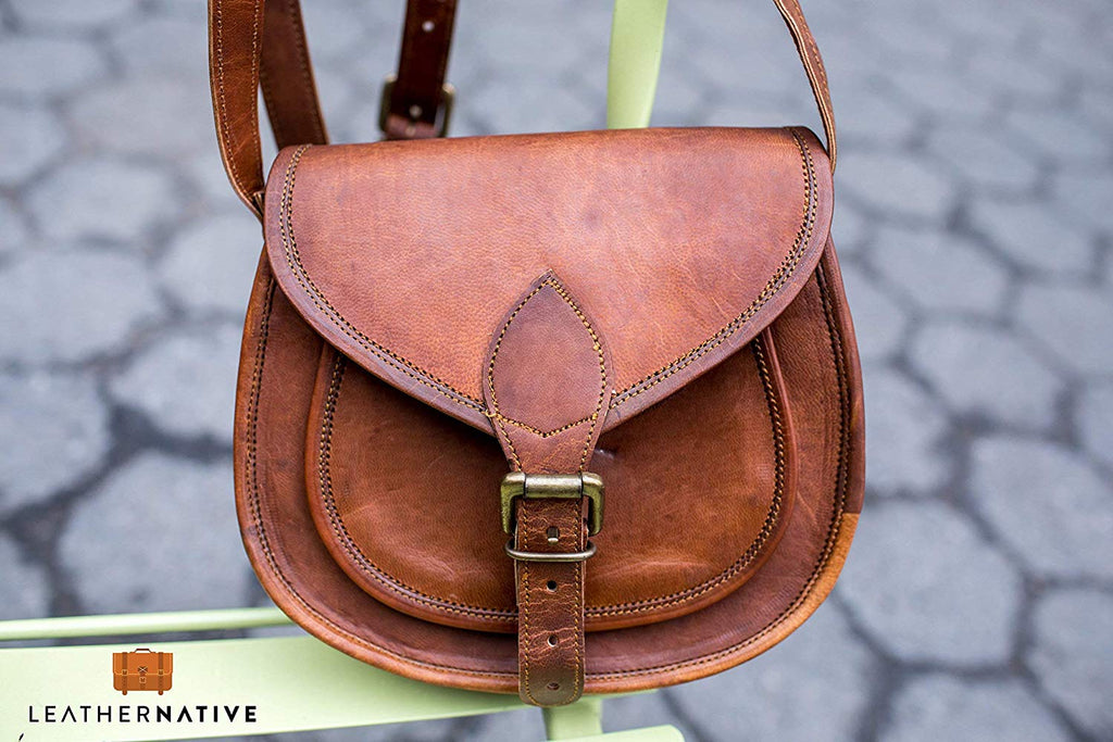 Handmade Leather Saddlebag Purse