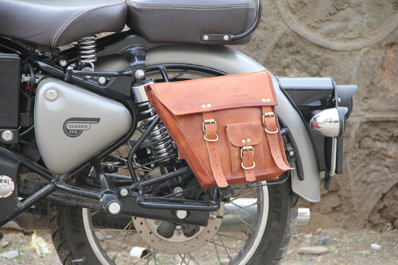 Leather Native 2X Motorcycle Side Pouch